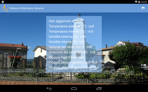 Meteo & Webcams Soveria - screenshot thumbnail