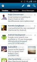 Screenshot of UberSocial for Twitter