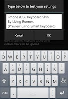 Screenshot of Cool Grey Keyboard Skin