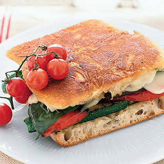 Grilled Vegetable and Mozzarella Panini.