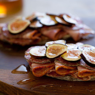 Open Faced Italian Fig Sandwich