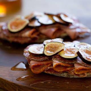 Open Faced Italian Fig Sandwich.
