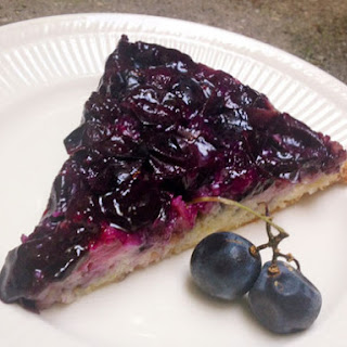 Concord Grape and Lemon Upside Down Cake.