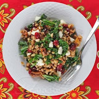 Warm Kale, Farro and Winter Fruit Salad.
