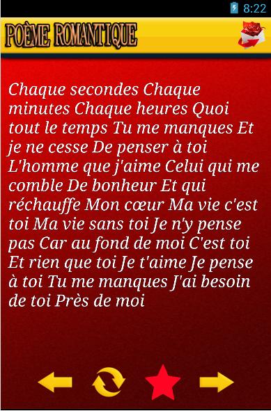 Poème Romantique en français - Android Apps on Google Play