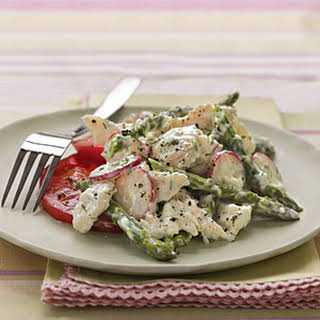 Chicken Salad with Asparagus and Creamy Dill Dressing.