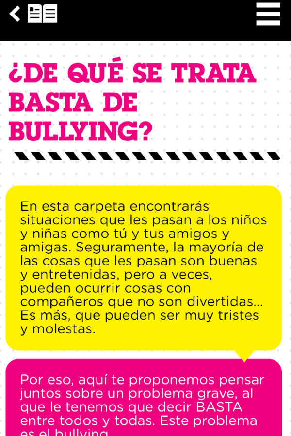 Basta de Bullying- screenshot