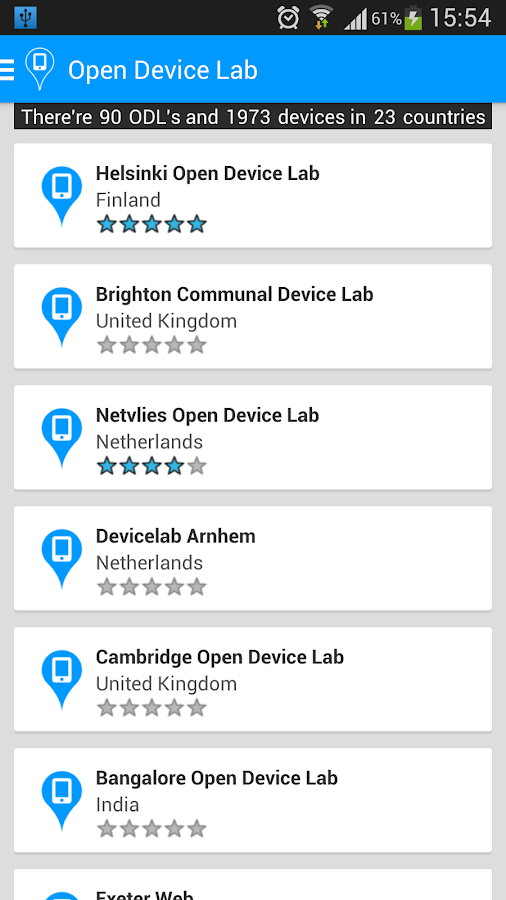 Open Device Lab- screenshot