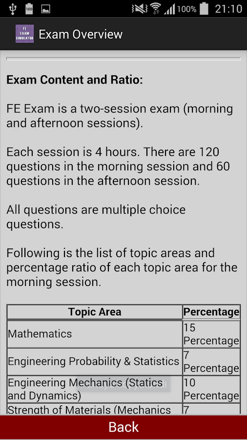 Fe exam dates in Perth