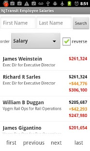 NJTransit Salary & Overtime DB- screenshot thumbnail