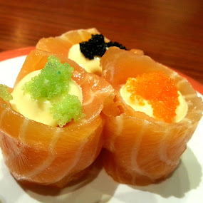 Sushi hugged by Salmon  by Jo-Ann Tan - Food & Drink Plated Food