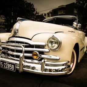 Classic cruiser by Howard Ferrier - Transportation Automobiles ( silver streak, bumper bar, chrome, grille, 1948 pontiac,  )