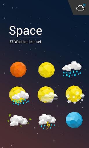 科幻卡通風格天氣圖標包﹣輕鬆天氣,最贊的天氣小工具!