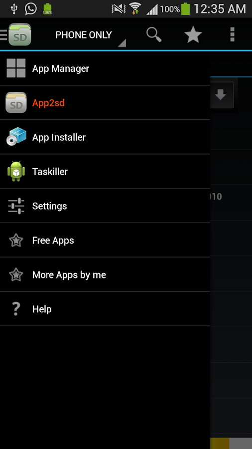 App2sd and appmanager-appmgr 3 - screenshot