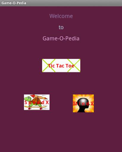 Tic Tac Toe - Game_O_Pedia