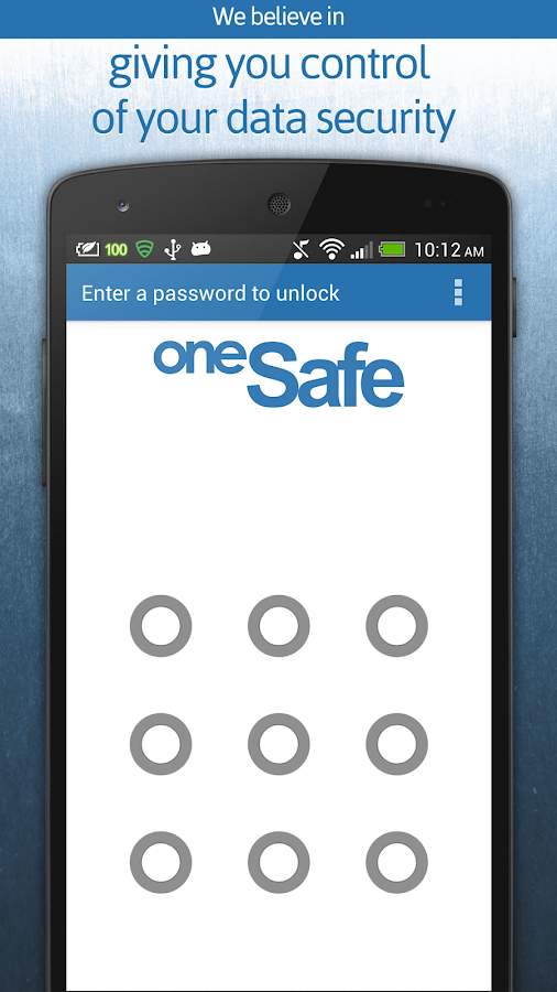 oneSafe | password manager - screenshot