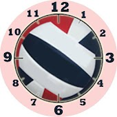 Volleyball Clock Widget-RWB