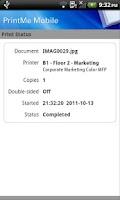 Screenshot of EFI PrintMe Mobile