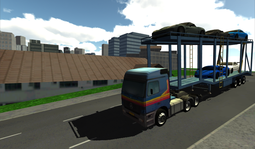 Car Transporter Truck Driving- screenshot