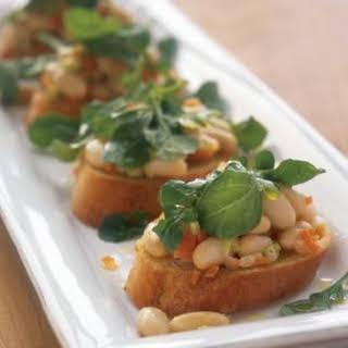 White Bean and Arugula Crostini.