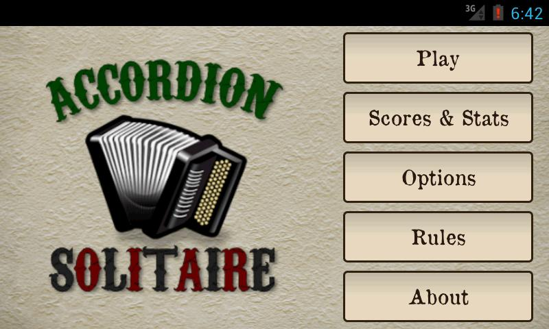 Accordion Solitaire - screenshot