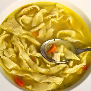 Our Favorite Chicken Noodle Soup with Homemade Noodles.