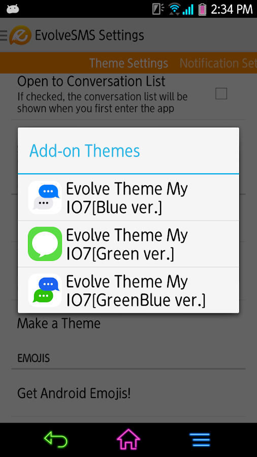 EvolveSMS - My I7[Green ver.] - screenshot