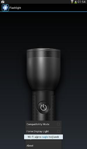 明亮的LED手電筒手機