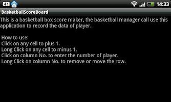 Screenshot of Basketball Boxscore Maker