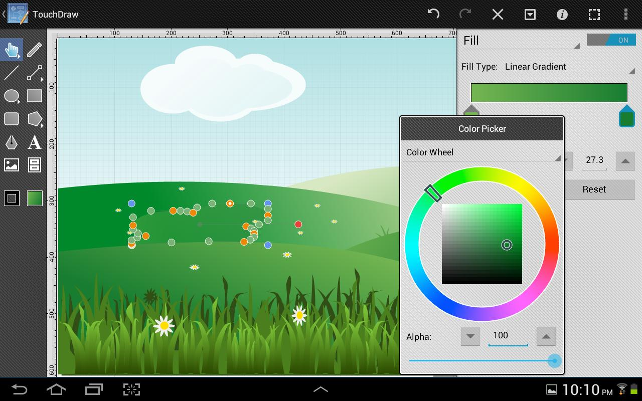 TouchDraw- screenshot