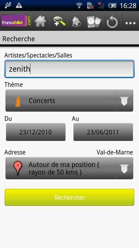 France Billet- screenshot