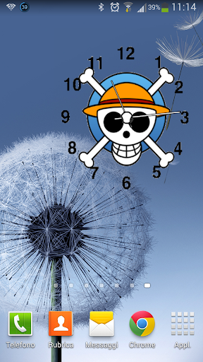 WIDGET CLOCK ONE PIACE