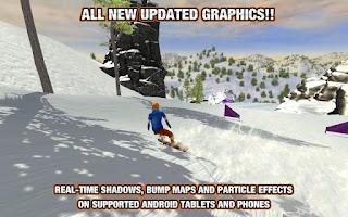 Screenshot of Crazy Snowboard
