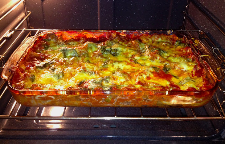 Lasagna with Spinach and Gouda Cheese Recipe