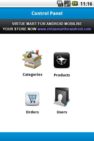 VirtueMart Admin- screenshot