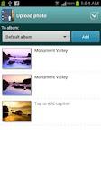 Screenshot of Upload web photos to Facebook