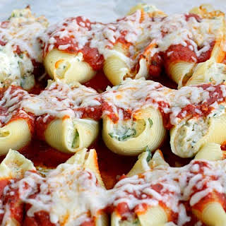 Chicken and Spinach Stuffed Shells.