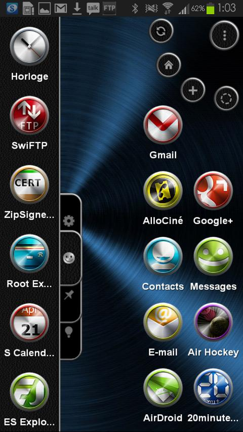 TSF Shell Theme Metal HD - screenshot