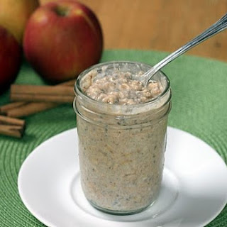 Apple Cinnamon Refrigerator Oatmeal.