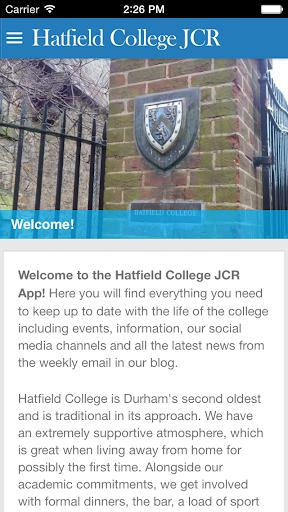 Hatfield College JCR