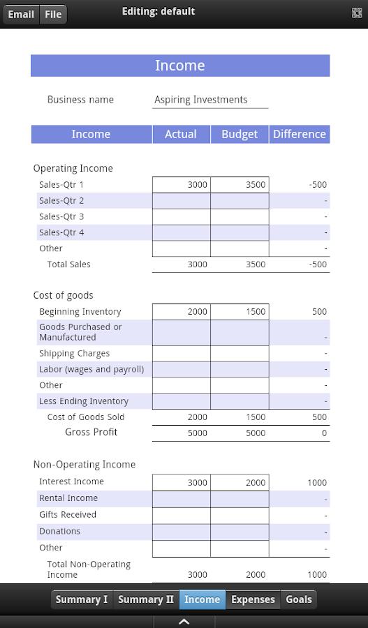 business budget app