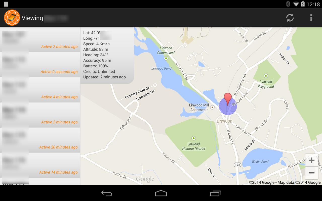 GPeaSe Viewer GPS Tracker- screenshot