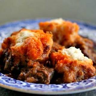 Beef Goulash with Dumplings.