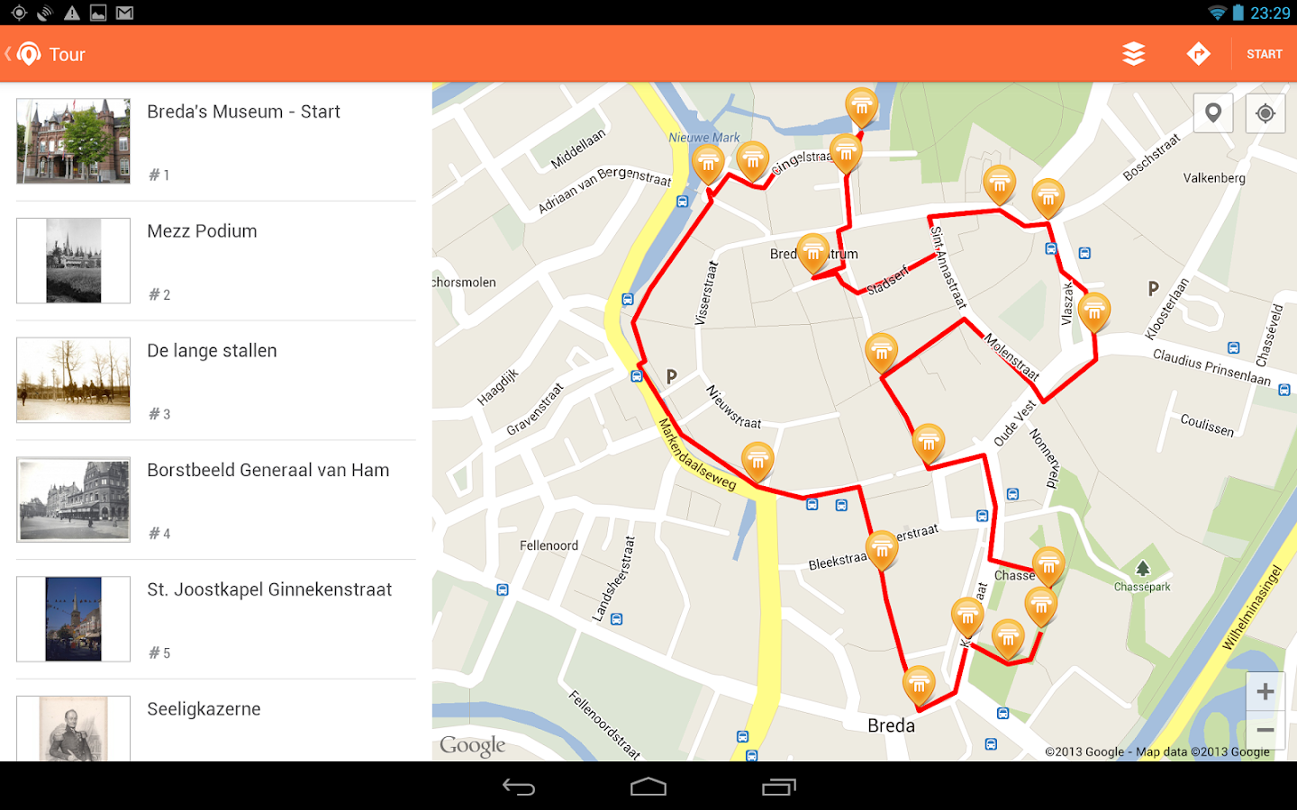 OPAS - GPS audio guide - screenshot