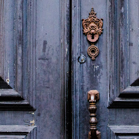 ;)  by Nina Kriznic - Buildings & Architecture Architectural Detail ( streetphotography, doorknob, street, entry, door, architecture, city,  )