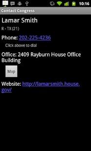 Contact Congress- screenshot thumbnail