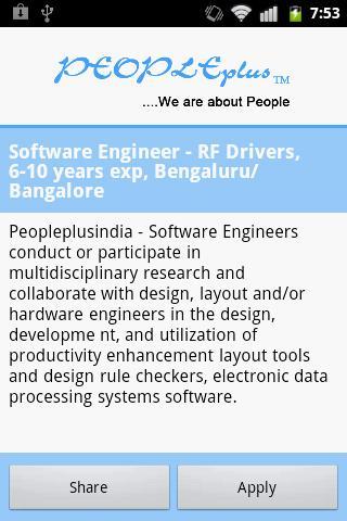 Peopleplus -Latest Active Jobs- screenshot