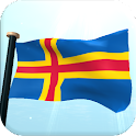 Åland Islands Flag 3D Free icon