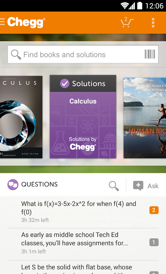 Chegg Homework Help|Rent Books - screenshot