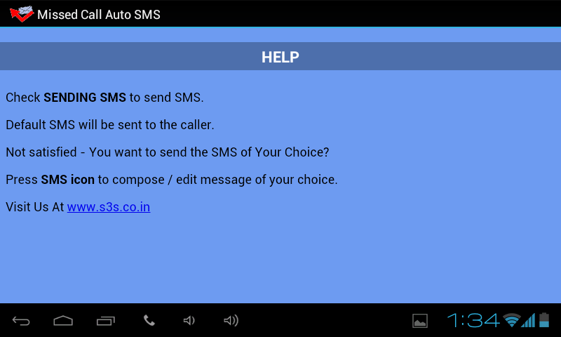 Missed Call Auto SMS (No ADs)- screenshot
